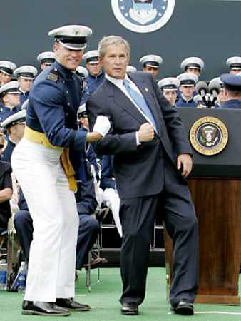 bush at air force academy