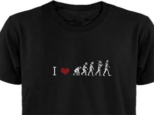 i heart evolution t-shirt